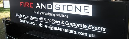 Fire 'n' Stone Catering Logo