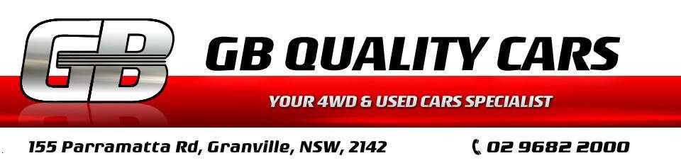 Logo for G.B Quality Cars - Ph: (02) 9682 2000