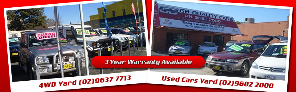 Welcome to G.B Quality Cars - Ph: (02) 9682 2000