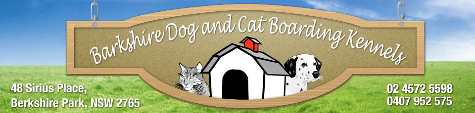 Logo for Barkshire Dog & Cat Kennerls - Ph: (02) 4572 5598