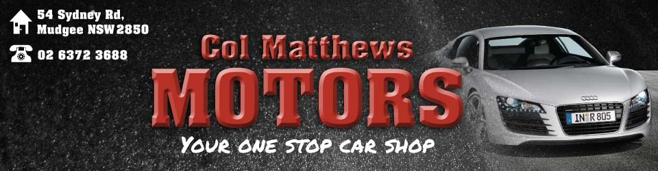 Logo for Col Matthews Motors - Mudgee - (02) 6372 3688