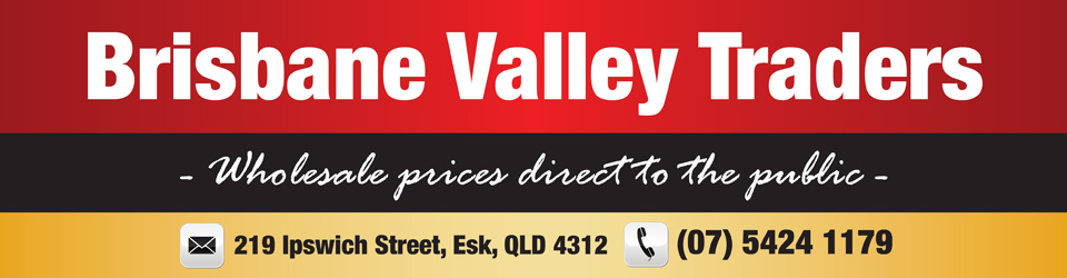 Logo for Brisbane Valley Traders - Esk - (07) 5424 1179