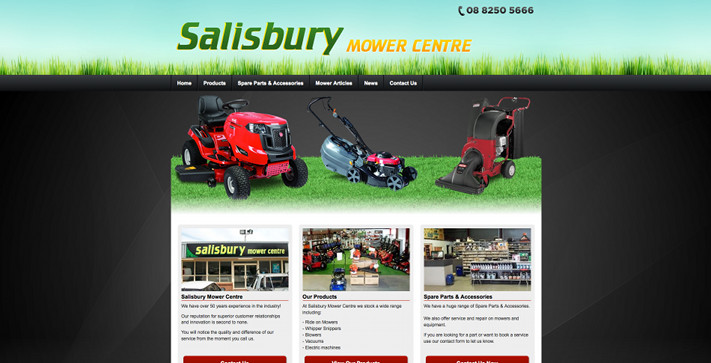 New Website Launched for Salisbury Mower Centre!