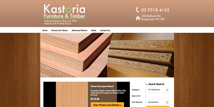 New Website Launched for Kastoria Furniture & Timber!