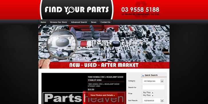 New Website Launched for Parts Heaven!