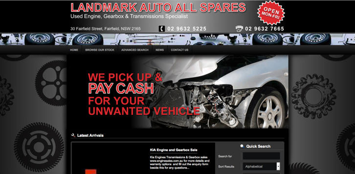 New Website Launched for Landmark Auto All Spares!
