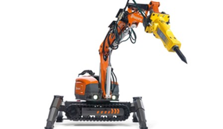 small and high powered demolition robot