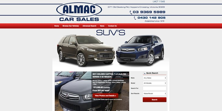 New Website Launched for Almac Car Sales!