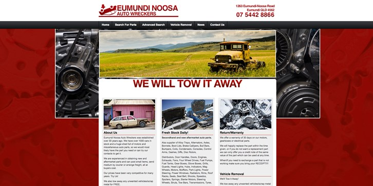New Website Launched for Eumundi Noosa Auto Wreckers!