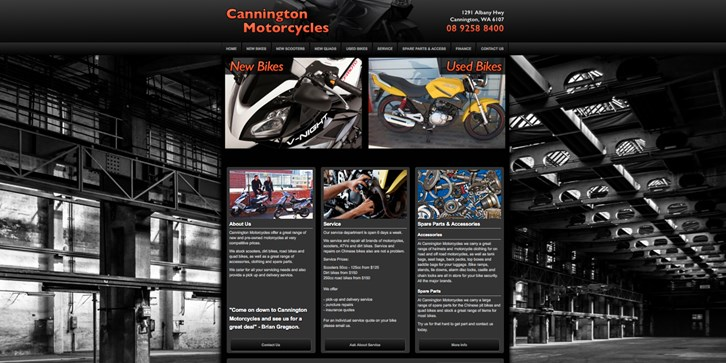 New Website Launched for Cannington Motorcycles!