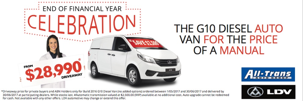 LDV G10 Introductory Offer