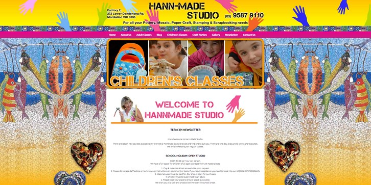 New Website Launched for Hann-Made Studio!
