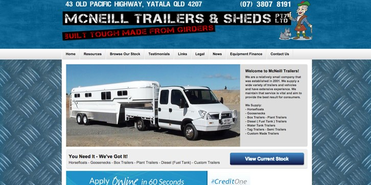 New Website Launched for McNeill Trailers!