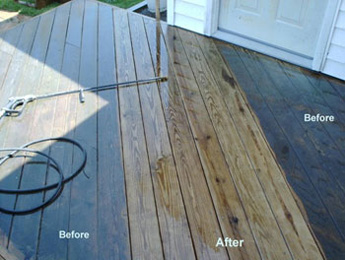 Gold coast high pressure cleaning bond clean australia for Best deck paint for old wood
