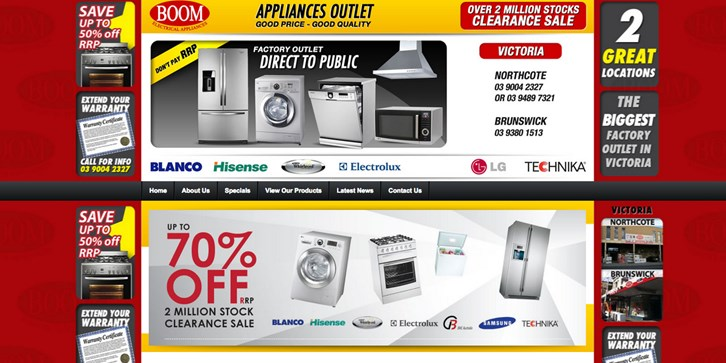 New Website Launched for Boom Electrical Appliances!