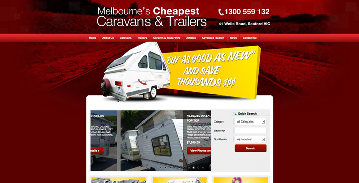 New Website Launched for Melbourne's Cheapest Caravans & Trailers!